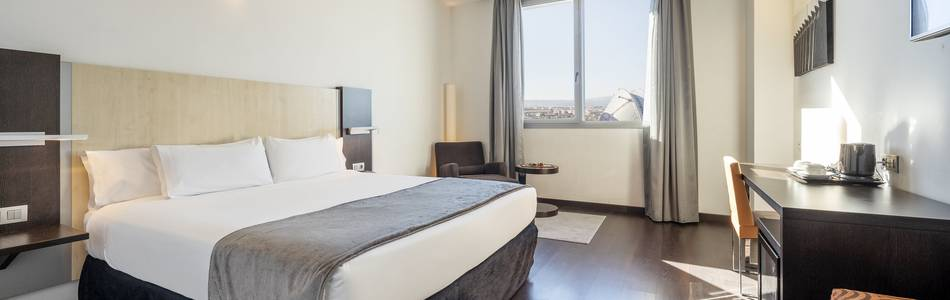 Double room hotel ilunion aqua 4 valencia